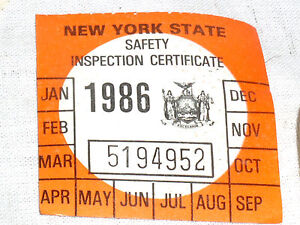 1 Vintage Nos 1986 Ny N Y S New York State Car Auto Safety