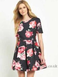 V-by-Very-Bonded-Satin-Tea-Dress-Size-UK-18-LF083-RR-24