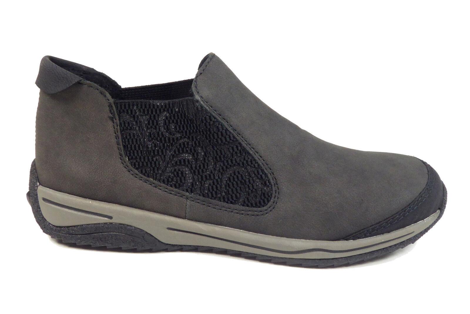 Rieker Damenhalbschuhe Chelsea-Stiefel in Grau L5294-00