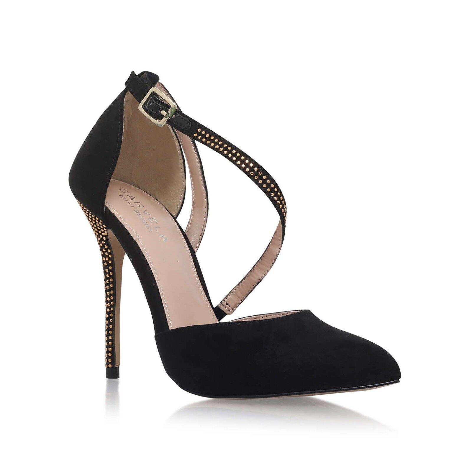 Black High Heel Court Shoes Kurt Geiger Carvela Size Size Carvela 6 Brand New RRP 011457