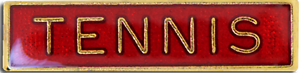 Tennis Bar Pin Badge in Red Enamel
