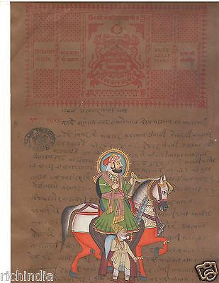 Maharaja Animal  Handmade Painting Artwork Animal Elephant Painting Vedic Yoga