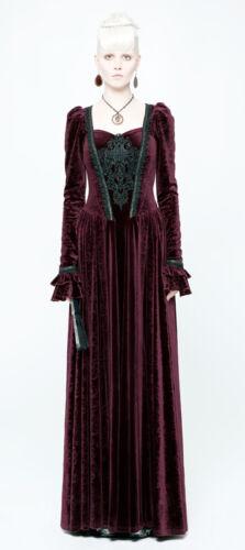 Robe bal motif brocart gothique victorien baroque princesse corset Punkrave R