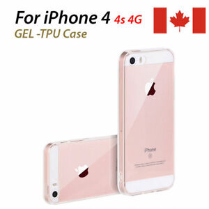 Gel-TPU-Flexible-Case-for-iPhone-4-4s-4g-iPhone-clear-case-frosted-side