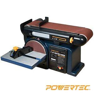 Details about POWERTEC BD4600 Woodworking Belt Disc Sander, 4 x 6-Inch