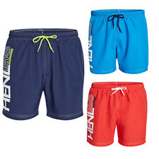 Henleys Mens Designer Detmer Swim Shorts Mesh Lined Poolside Swimming Trunks