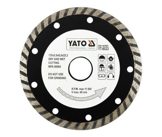 Diamond separation disc 125 x 22,2 , Turbo , for Tiles, Concrete, Masonry
