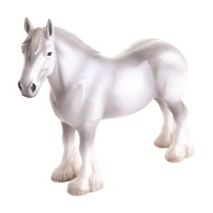 John Beswick JBH40GR Shire Grey Horse Figurine