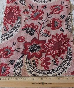 Never-Used-Antique-18thC-Printed-Toile-de-Jouy-Cotton-Fabric-Sample