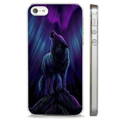 Wolf Howling Northern Lights Art Clear Phone Case Cover Fits Iphone 5 6 7 8 X Ebay