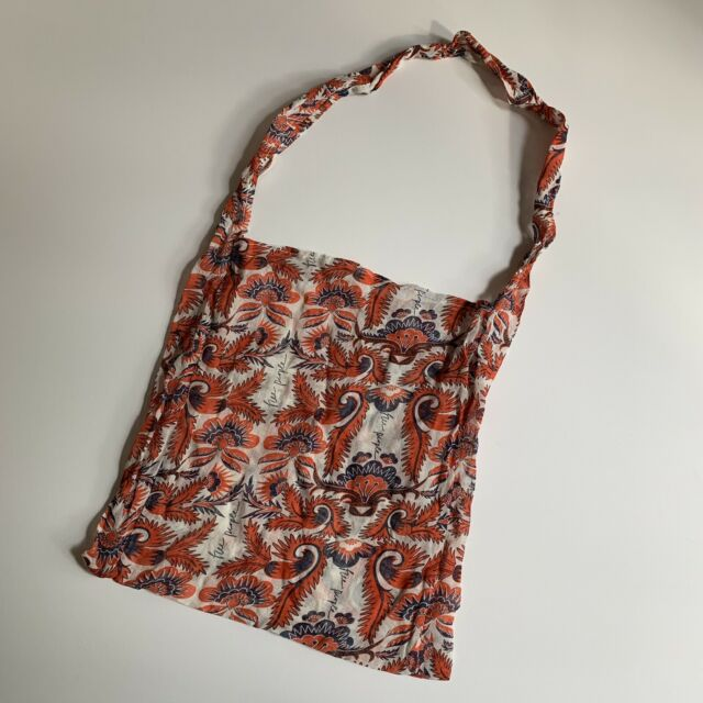 NEW~Free People Bag Linen Blend Large Reusable Shopping Tote Yoga//Gym L or XL