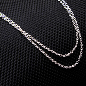 EASTER-SALE-Designer-Link-Unisex-chain-necklace-925-Sterling-Silver-Jewelry-20-034