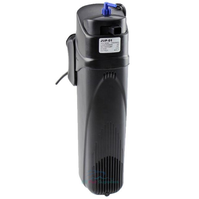13W Aquarium Fish Tank UV Sterilizer Fully Submersible Up to 75 Gal 211GPH Pump