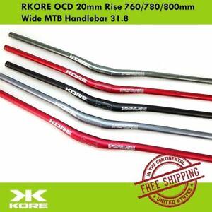 KORE OCD 20mm Rise Wide MTB Handlebar 31.8 x 760//780//800mm 7050-T6 Triple Butted