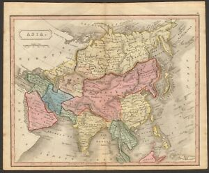 Map Of Asia And China.1815 Ca Antique Map Hand Coloured Asia China Chinese Empire