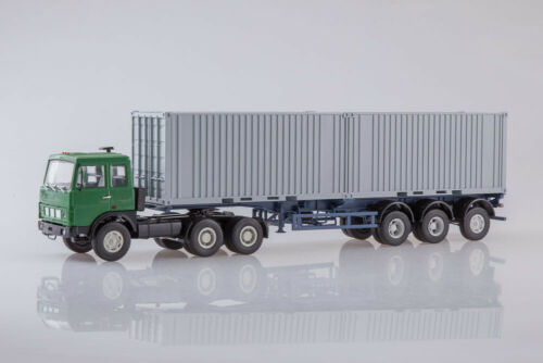 USSR RU AUTOHISTORY 101593 1:43 MAZ 6422 WITH MAZ 938920 SEMI TRAILER CONTAINER