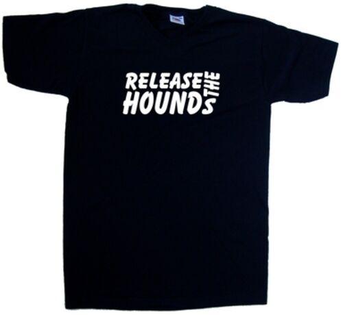 Relâchez le chiens Drôle T-shirt col en V