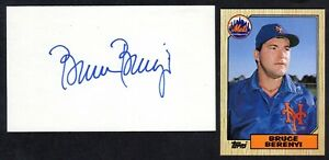 Bruce Berenyi ( Debut 1980 ) REDS  METS  SIGNED AUTOGRAPH AUTO 3x5 INDEX COA
