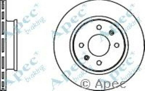 1x OE Quality Replacement Front Axle Apec Vented Brake Disc 4 Stud 256mm Single