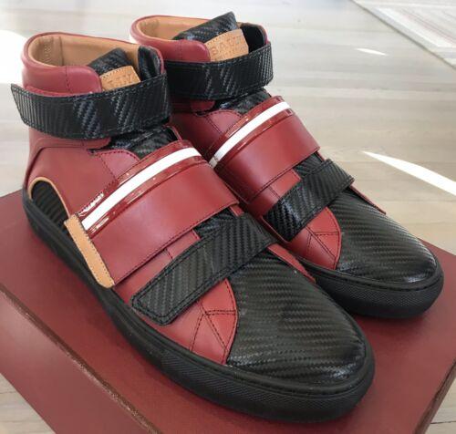 rood en 700Bally ons lederen hoge tops Herick 13 maat sneakers zwart JcTFl1K