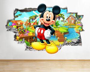 Z051 Mickey Mouse muchachos frescos pa pegatina pared vinilo 3d habitación niños