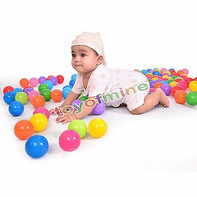 1/10/20/50/200 Soft Plastic Ocean Ball Secure Baby Kid Pit Toy Swim Fun Colorful