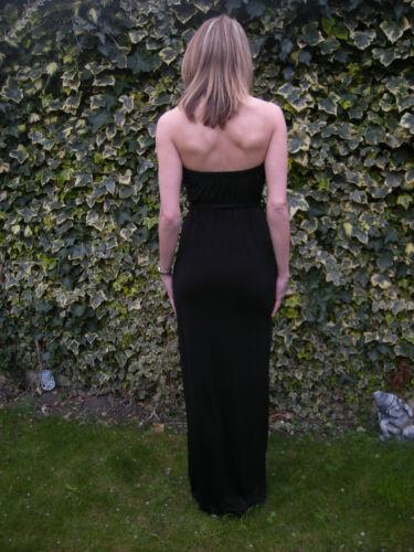 Maxi Beach Bandeau Dress  in Animal  Black S//M 8-10 John Zack