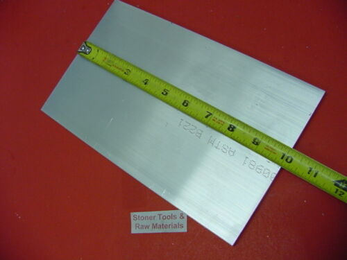 """2 Pieces 1//4/"""" X 6/"""" ALUMINUM 6061 T6511 FLAT BAR 10/"""" long Solid Plate Mill Stock"""