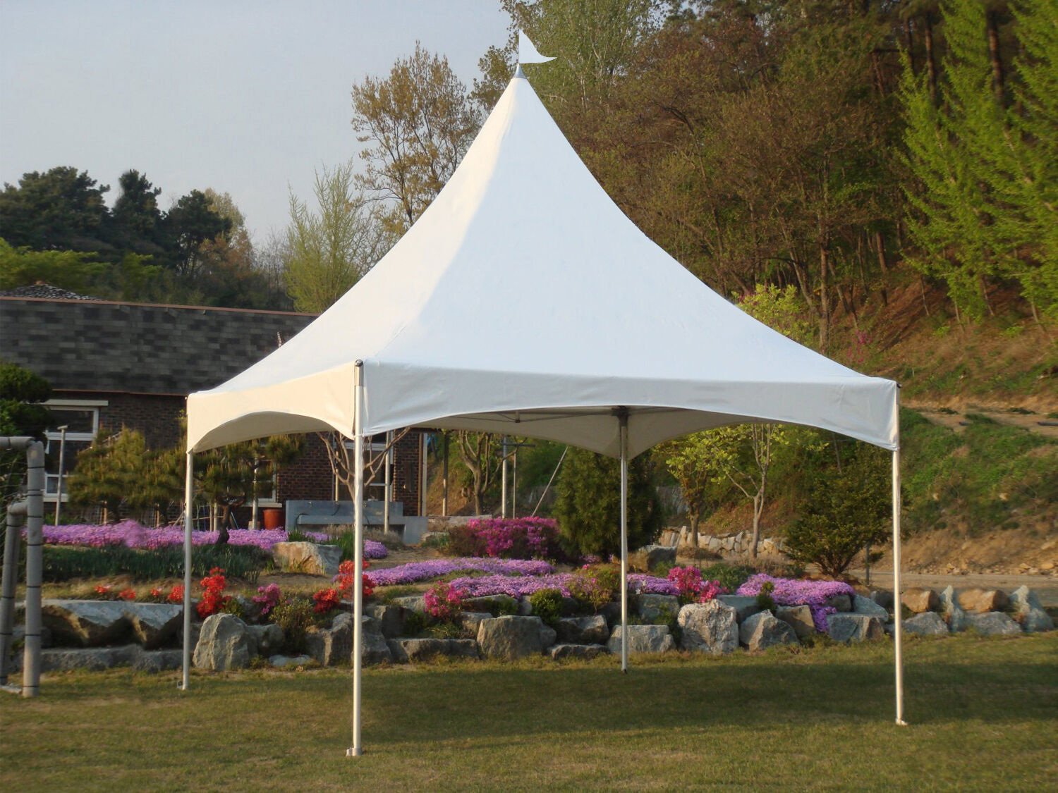 Commercial High Peak Marquee Tent 10x10 10x13 12x12 lasting use Canopy White