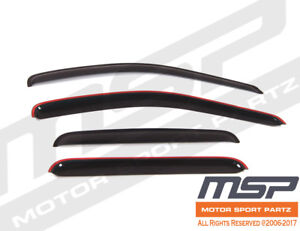 4pcs Visor Rain Guards Wind Deflector Pontiac G8 2008-2009 08-09 All Model