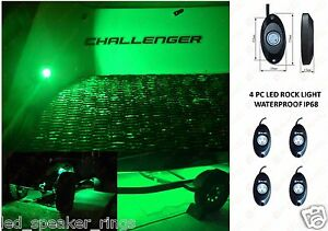 4 led rock lights kit rock crawler led under body green wiring rh ebay com Crawler Harness Knots Lindy Crawler Harness