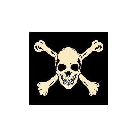 Autocollant drapeau tête mort sticker logo 1 4 cm