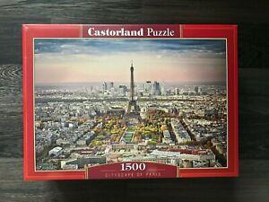 """Brand New Castorland Puzzle 1500 Cityscape Of Paris 27"""" x 17.5"""" C-151837"""
