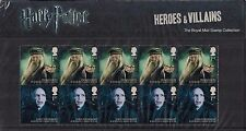 2011 GB QE2 COMMEMORATIVE STAMP PRESENTATION PACK HARRY POTTER HEROES & VILLAINS
