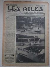 AILES 1935 721 HYDRAVION CAMS 110 AVION MARIN AVIETTE ITALIA POU CAUDRON AIGLON