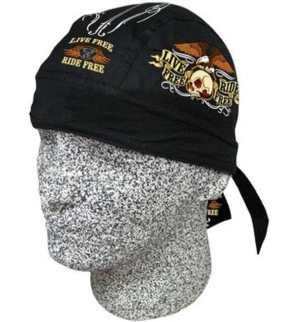 Live Free Ride Free Bandana Biker Doo Do Du Rag Head wrap Skull cap Capsmith Hat