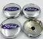 Ford-4-x-60mm-Silber-Chrome-Alufelge-Nabenkappen-Nabendeckel-Satz Indexbild 1