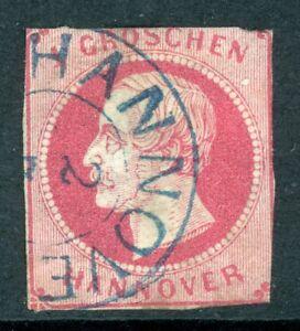 Germany-1859-Hannover-1Gr-Carmine-SG-22-VFU-K10
