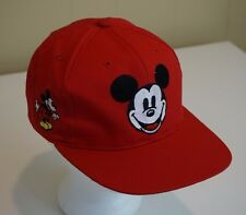 The Disney Store Mickey Mouse Flip Up Snapback Baseball Hat Cap Red