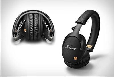Genuine Marshall MONITOR Over-Ear Headphones Headset Stereo Ear Mic Bass w mic