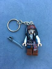 LEGO Captain Jack Sparrow Pirate Keyring Keychain Minifigure Fits Lego UK Sales