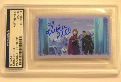 KRISTEN BELL Signed Disney FROZEN Anna Sticker Card PSA/DNA COA Autograph Auto