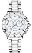 BRAND NEW TAG HEUER FORMULA 1 CAH1213.BA0863 DIAMOND WHITE CERAMIC WATCH
