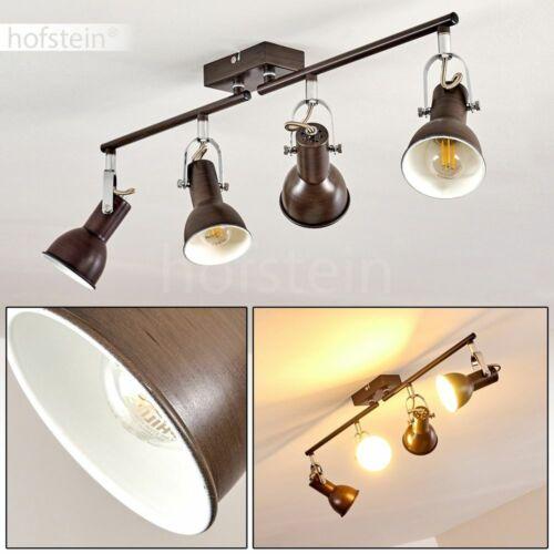Decken Leuchte 4-flammige Wohn Schlaf Zimmer Strahler Lampe verstellbar Vintage