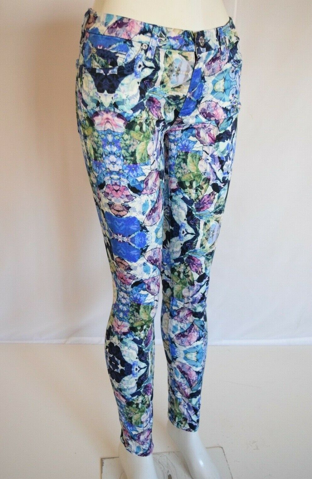 NEW Seven 7 For All Mankind THE SKINNY  Woman  Jean SZ 28 in KALEIDOSCOPE FLORAL