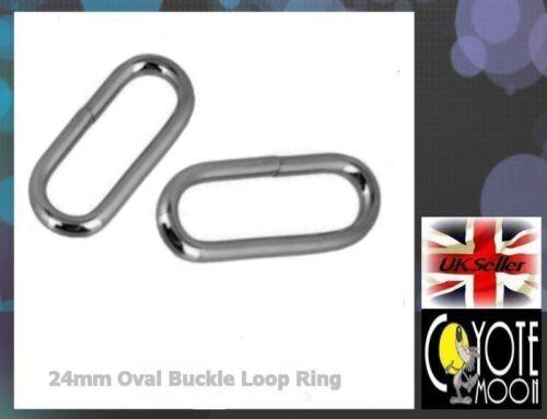 Oval Loop Ring Metal Wire formed Bag Handbag for 20mm webbing 2 pack UK Seller