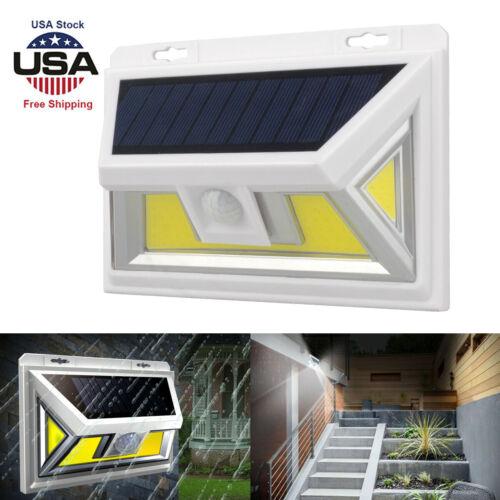 Solar PIR Motion Sensor 74 LED Security Wall Flood Light Spotlight Outdoor Lamp