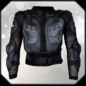 Body armor motorcycle protector jacket full suit moto for Motorcycle body armor shirt
