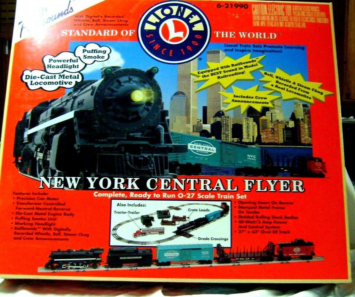 Lionel 621990 nuovo YORK CENTRAL Flyer Treno Set Nuovo