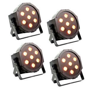 4er Set BoomToneDJ  LED FLAT SLIM PAR 56 SLIMPAR 7x10W 4in1 RGBW LEDs